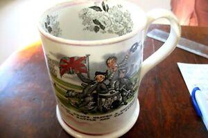 EARLY VICTORIAN STAFFORDSHIRE POTTERY FROG MUG CIRCA   1790  PERFECT