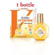 1 Bottle 13ml ROHTO Vitamin Eye Drops Improve Vision,Itching,Conjunctivitis- NEW