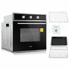 60cm Electric Built in Wall Oven Grill Stainless Steel Fan Forced Glass 5f