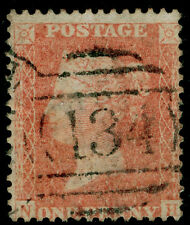 C9 (2), 1d Rosso-arancio, LC14, bene usata. CAT £ 200. NH