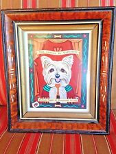 Yorkshire Terrier Print by Retro Pets beautifully framed - So cute!