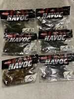 """(Lot Of 6) Berkley Havoc Pit Boss Jr 3"""" - 59 Pieces - *Hard To Find!* Fast Ship!"""