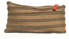 Zip it Bag ZM Clutch no handle Khaki Brown - New & Boxed