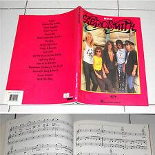 Spartiti AEROSMITH BEST OF - PIANO VOCAL GUITAR Songbook spartito sheet music