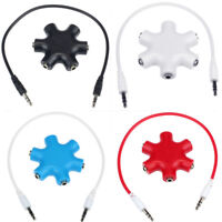 5 Way 3.5mm Audio Jack Hub Headphone Headset Earphone Aux Multi Splitter Adapter