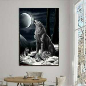 Wolf Night Moon Art Animal Nature Post, Funny Poster