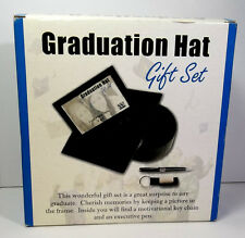 Graduation Gift Set of Graduation Hat Picture Frame With Pen and Keychain