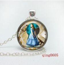 New Vintage alice in wonderland Tibetan silver necklace fr26