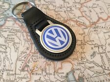 VW Quality Black Real Leather Keyring VOLKSWAGEN GOLF GTI UP POLO TOUAREG BEETLE