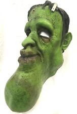 DELUXE LATEX FRANKENSTEIN MASK WITH LONG CHIN Halloween Monster Mask Ghoulish