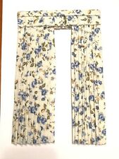 1/12th scale miniature dollhouse roombox floral drapes curtain