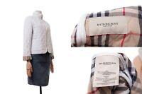 Women's BURBERRY LONDON Quilted Jacket White Color Nova Plaid Size M