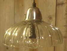 Lampe plafond à SUSPENSION DE CUISINE LUMINAIRE VERRE STYLE RUSTIQUE ANCIEN NEUF