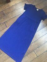 J Jill Womens Long Purple Short Sleeve Casual Dress Sz XSmall Petite w/ Pockets