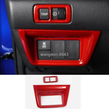2*For Honda Accord 2018 2019 Red ABS Interior Headlight switch button frame Trim