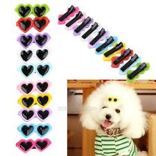 10Pcs Fashion Cute Pet Dog Hair Bow Hair Clips Puppy Grooming Hairpin Sunglasses