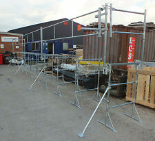 10 x Size 3 Builders Trestles & 10 Metres Trestle Handrail System