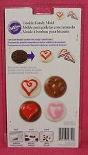 Hearts,Chocolate Covered Cookie/Candy Mold, Wilton,Clear Plastic,2115-1352.