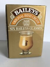 Bailey's Irish Cream Tulip Goblet Shot Glass Coffee Liquor Box Set of Six 6