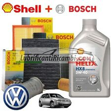 Kit tagliando olio motore  SHELL HELIX HX8 5W40 5 LT 4 FILTRI BOSCH VW GOLF 4 1.
