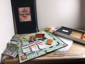 RARE VINTAGE MONOPOLY BOARD GAME. 1936. LONG BLACK BOX. Retro Classic