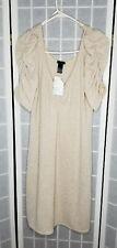 H&M Beige Vneck with Silver sparkle party Dress Size L