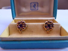 10 Carat Amethyst Round Rose Gold Fine Earrings