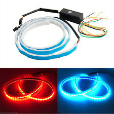 DC12V Ice Blue+Red LED Flow Type Flowing Light Car Vehicles Tail Gate Brake Lamp
