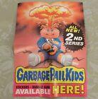 1985 Garbage Pail Kids GPK 2nd Series 2 Box Promo Ad Display Adam Bomb POSTER !