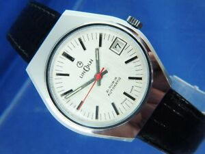 Lincoln Automatic Watch Circa 1970s Swiss Gents Retro NOS Vintage Cal MSR P26