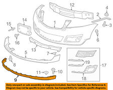 Chevrolet GM OEM 13-17 Traverse Front Bumper Grille-Air Deflector 23393455