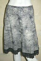 MAIS IL EST OU LE SOLEIL Taille 42 Superbe jupe marron gris skirt falda rock