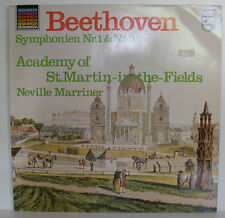 BEETHOVEN SYMPHONIEN NR.1 & 2 NEVILLE MARRINER ST.MARTIN-IN-THE-FIELDS LP (e662)