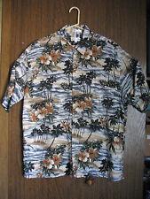 Men's Pierre Cardin Hawaiian Floral Shirt Button Front Short Sleeve Size XL