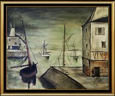 Charles Levier Original Oil Painting on Canvas Signed Seascape Landscape Artwork