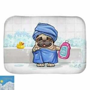 Pug Dog In Bath Funny Bath Mat, Non-slip Modern Bath Rugs, Indoor Rug