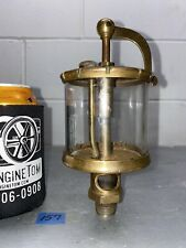 Michigan Lubricator Co. #X134 Brass Cylinder Swing Top Oiler Hit Miss Gas Engine