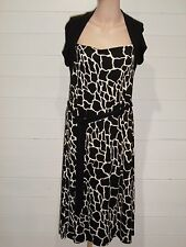 M&S Dress ~ Size 14 ~ Black and white ~ Cap Sleeves ~ Casual, Everyday ~ A323