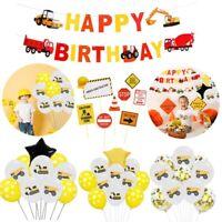 Construction Vehicle Excavator Balloons Set Foil Kids Birthday Party Decoration