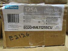 Siemens E0204Ml1125Scu 125A Main Lug, 1Ø 3W, 2/4 Circuit Load Center- New -E2126