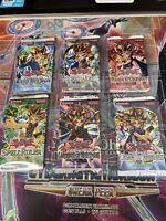 Yugioh OLD First 6 SEALED Packs LOB, MRD, PSV, SRL, LON, LOD 2005 *Heavy LOB/PSV