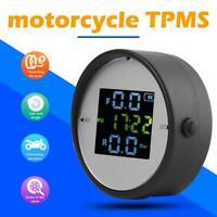 Motorrad TPMS Reifendruckkontrollsystem Zeitanzeige + 2 externer Sensor