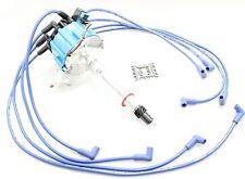 Blue HEI Distributor Coil 8.5mm Spark Plug Wires Chevy 5.0L 305 5.7L 350 400 V8