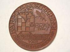medaglia finale campionato mondo di scacchi Merano 1981  Chess Karpov bronzo