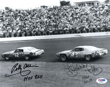 BOBBY ALLISON & RICHARD PETTY DUAL SIGNED AUTOGRAPHED 8x10 PHOTO + HOF PSA/DNA