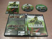PS2 METAL GEAR SOLID 3 SUBSISTENCE USA NTSC AMERICA COMPLETO PLAYSTATION 2 SONY