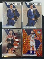 2019-20 Steph Curry Nba Mosaic 4 Card Lot Orange Reactive, MVP, USA Basketball