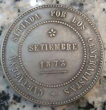 RÉPLICA 5 pesetas 1873 moneda revolución cantonal Cartagena España réplica duro