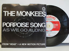 The Monkees -Porpoise Song/As We Go Along on Colgems 66-1031 w/ pic sleeve