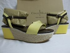 Cole Haan Size 8.5 M Arden Leather Sunlight Wedges Sandals New Womens Shoes
